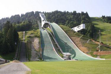 Die Olympiaschanze in Garmisch Partenkirchen